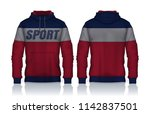 hoodie shirts template.jacket... | Shutterstock .eps vector #1142837501