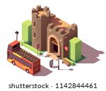 vector isometric tourist... | Shutterstock .eps vector #1142844461