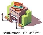 vector isometric travel agency... | Shutterstock .eps vector #1142844494