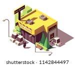 vector isometric car rental... | Shutterstock .eps vector #1142844497