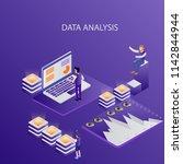 3d infographic business data... | Shutterstock .eps vector #1142844944