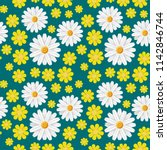 green spring seamless pattern... | Shutterstock .eps vector #1142846744