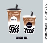 the bubble latte  coffee and... | Shutterstock .eps vector #1142849177