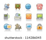 communication icons | Shutterstock .eps vector #114286045