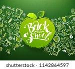 back to school horizontal... | Shutterstock .eps vector #1142864597