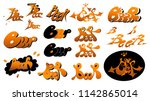 "vector logos set the word ""beer""... 