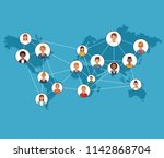 social network and people | Shutterstock .eps vector #1142868704