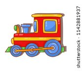 locomotive train toy colorful... | Shutterstock .eps vector #1142881937