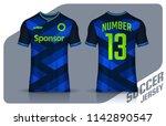 t shirt sport design template ... | Shutterstock .eps vector #1142890547