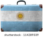 the argentine flag painted on ... | Shutterstock . vector #114289339