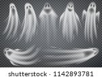 set of realistic ghosts... | Shutterstock .eps vector #1142893781