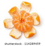 Fresh Mandarin Fruits On A...