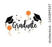 graduation greeting card design ... | Shutterstock .eps vector #1142899337