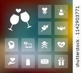 vector set of love icons.... | Shutterstock .eps vector #1142903771