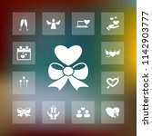 vector set of love icons.... | Shutterstock .eps vector #1142903777