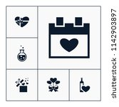 vector set of love icons.... | Shutterstock .eps vector #1142903897