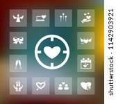 vector set of love icons.... | Shutterstock .eps vector #1142903921