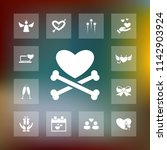 vector set of love icons.... | Shutterstock .eps vector #1142903924