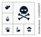 vector set of love icons.... | Shutterstock .eps vector #1142903957