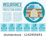 house insurance business... | Shutterstock .eps vector #1142905691