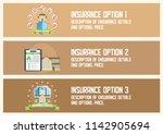 house insurance business... | Shutterstock .eps vector #1142905694