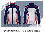jacket design sportswear track... | Shutterstock .eps vector #1142914061