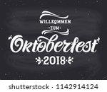 oktoberfest handwritten... | Shutterstock .eps vector #1142914124