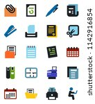 color and black flat icon set   ... | Shutterstock .eps vector #1142916854