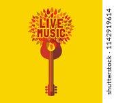 template for musical poster ...   Shutterstock .eps vector #1142919614