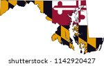 maryland state flag seal love... | Shutterstock .eps vector #1142920427