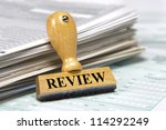 rubber stamp marked with review | Shutterstock . vector #114292249