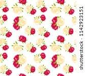 flowers pattern seamless | Shutterstock .eps vector #1142923151