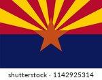 arizona state flag seal love... | Shutterstock .eps vector #1142925314