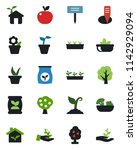 color and black flat icon set   ...   Shutterstock .eps vector #1142929094