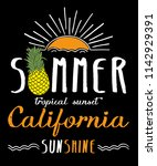 summer graphic for t shirt | Shutterstock .eps vector #1142929391