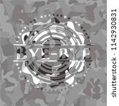 bye bye on grey camouflaged... | Shutterstock .eps vector #1142930831