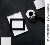 design objects flatlay with... | Shutterstock . vector #1142933081