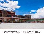 sakya town  central tibet  ... | Shutterstock . vector #1142942867