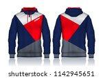 hoodie shirts template.jacket... | Shutterstock .eps vector #1142945651
