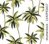 tropical hawaiian green palm... | Shutterstock .eps vector #1142952617