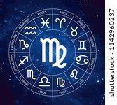 vector. graphic astrology set... | Shutterstock .eps vector #1142960237