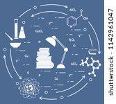 scientific  education elements. ... | Shutterstock .eps vector #1142961047