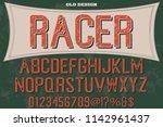 typeface set characters... | Shutterstock .eps vector #1142961437