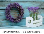Lavender Wreath And Decorative...