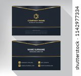 business model name card luxury ... | Shutterstock .eps vector #1142977334