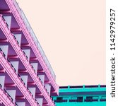 minimal architecture fashion... | Shutterstock . vector #1142979257