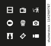 movie icon set. popcorn ...