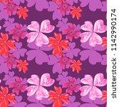 marble textured flowers in...   Shutterstock . vector #1142990174