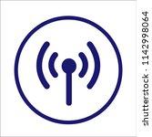 wifi sign   satellite tv or... | Shutterstock .eps vector #1142998064