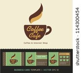 coffee cafe icon logo and...   Shutterstock .eps vector #114300454